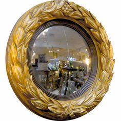 1stdibs   Gilt Convex Mirror from the Regency Era