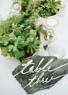 Rock table tag