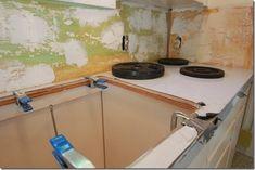 zStanless Steel Counters (3) Stainless Countertops, Types Of Countertops, Cheap Countertops, Formica Countertops, Butcher Block Countertops, Bathroom Countertops, Stainless Steel Kitchen, Butcher Blocks, Backsplash