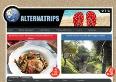 Web Development and Design for www.alternatrips.gr a website for Greece Travel offering tips by locals.