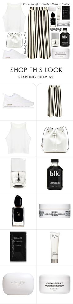 """Thinker Than A Talker"" by bubblybeauty135 ❤ liked on Polyvore featuring NIKE, River Island, Sole Society, Nails Inc., Armani Beauty, Kiehl's, Cleanse by Lauren Napier and H2O+"