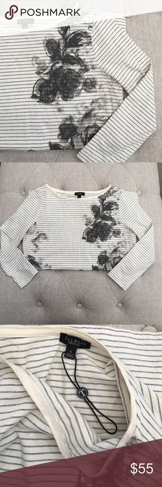 🆕 Talbots Floral striped top New without tag, Price tag fell off however you can still see the original talbots tag still in place. Beautiful Talbots floral/long sleeve striped top. Bundle for additional savings, offers considered. Size small. Made in Cambodia. Talbots Tops