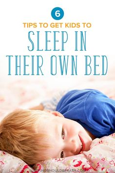 Awesome tips on getting your children to sleep in their own bed. Maybe your child refuses to sleep in her room, creeps into your bed, or is too afraid to sleep on her own. Don't worry—you can get yourself a solid night of sleep again, especially when you apply these 6 ideas to get your #toddler to sleep—and stay—in their own bed the whole night. #toddlerlife