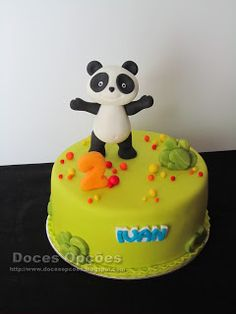 Doces Opções: Bolo de aniversário Panda Bolo Sofia, Panda Cakes, Panda Party, Pasta, Desserts, Kids, Food, Panda Decorations, Themed Parties
