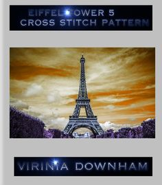 Eiffel Tower 5 is a stunning Cross Stitch Pattern. It has a total of 15000 stitches and uses 86 DMC cottons. (You get a comprehensive list of cottons needed with this cross stitch pattern.). For best results use 14-count Aida material and a blunt tapestry needle size 24. Finished project sizes are    The center marks appear on the applicable center page only.    Y    This pattern is 6 pages.    I use pdf format as it produces the clearest cross stitch pattern. You can enlarge the cross…