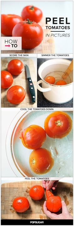 How to Peel Tomatoes, in Pictures