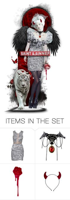 """Saint & Sinner"" by tracireuer ❤ liked on Polyvore featuring art"
