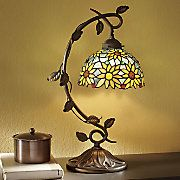 Faux Stained Glass Sunflower Lamp