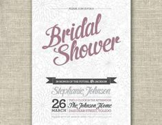 Bridal Shower Invitation Card - Pri..