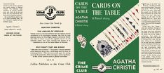 Cards on the Table, Agatha Christie. Labors Of Hercules, Cards On The Table, Agatha Christie, Book Making, Mini Books, Dollhouse Miniatures, Novels, Reading, Book Covers