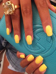 Cnd shellac bicycle yellow