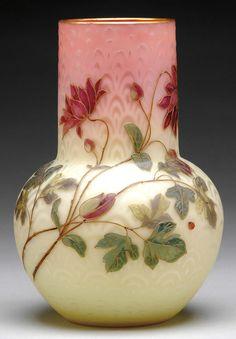 Vase by Mt. Washington Glass Company of Massachusetts, 1885-1895.