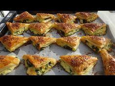 📌 Sadece 2 Yufka ile 1 Tepsi Börek 👌Yiyen Milföy sanıyor 😊 - YouTube Turkish Recipes, Ethnic Recipes, Little Bites, French Toast, Food And Drink, Pizza, Turkey, Brunch, Snacks