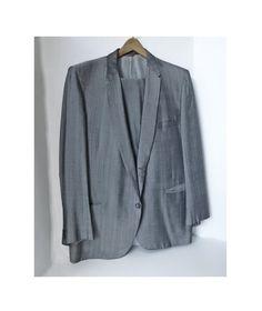 1950's LARGE gray Sharkskin suit with slubs-RnR-stage-Rockabilly-Gene Vincent. $800.00, via Etsy.