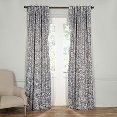 Adelaide Damask Blackout Thermal Rod Pocket Single Curtain Panel