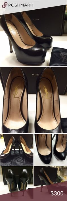 YSL Tribute Too Platform Stiletto Pumps Sadly I need to let theses beauties go...EUC not in original box, comes with dust bag. Purchased from Tradesy which guarantees authenticity. Minor wear, very good condition Yves Saint Laurent Shoes Heels