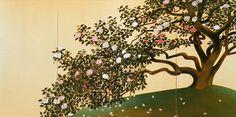 "Hayami Gyoshu  ""Camellia Petals Scattering"" #tree #art"