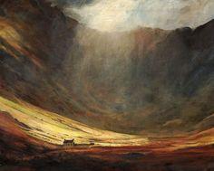 Cwm Eigiau, an original oil painting by Rob Piercy, Mountains,Buildings and Structures, Wales,Carneddau, 76 cm x 50 cm