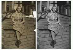 We repair photo stains and bust photo damage, send them to jail and throw away the key. http://www.fixingphotos.com