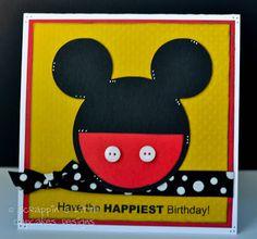 Circut Mickey Mouse Card