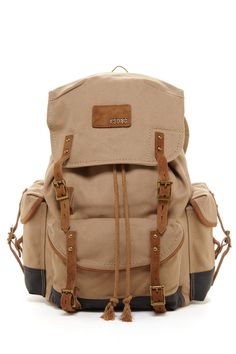 Buckle Rucksack Backpack