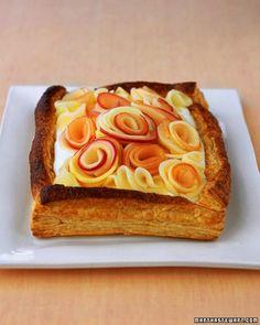Buttermilk Cream Tart with Apple Roses Recipe