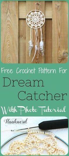 Free crochet pattern with photo tutorial dream catcher   Haaknerd