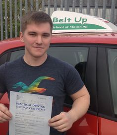 Ben Price passed today FIRST TIME and the FIRST one in Darens new Tomato car. Only 6 faults and a good start for the new car on the fleet. Well Done!
