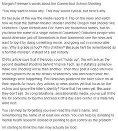 Morgan Freeman's words about the Connecticut School Shooting