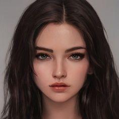 Digital Art Girl, Digital Portrait, Portrait Art, Portrait Photography, Character Portraits, Character Art, Alien Concept Art, Cartoon Girl Drawing, Beautiful Fantasy Art
