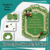 Green Tree Text Christmas Card Kit