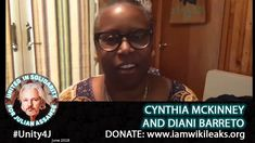 13 Cynthia McKinney and Diani Baretto - - Online Vigil in support of Julian Assange Unity, Acting, Interview, June, Smoke