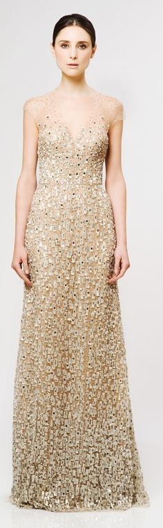 Reem Acra #HauteCouture If I were to get a dress made of gold and water, I imagine this is what it would look like...