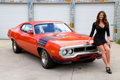 Plymouth Road Runner, Pony Car, Sexy Cars, Hot Cars, Mustang, Car Poses, Custom Pickup Trucks, Automobile, Bus Girl
