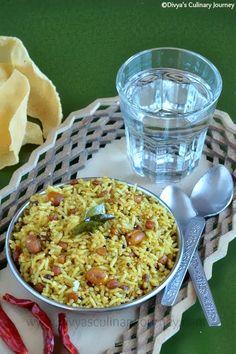 Puliyodharai - Spicy & Tangy Tamarind flavored Rice (Vegan)