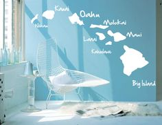 Hawaiian Islands Decals- or paint this!