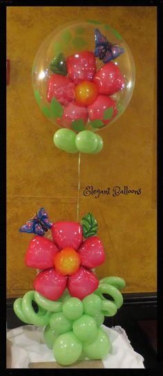 deco bubble flowers centerpiece - #qualatex  www.elegant-balloons.com Sweet 16 Decorations, Flower Centerpieces, Balloons, Bubbles, Elegant, Breakfast, Flowers, Food, Classy