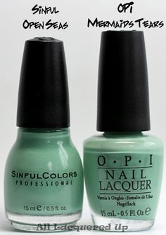 "I haven't tried Sinful Open Seas, but OPI's ""Mermaid Tears"" from their Pirates of the Caribbean collection is spot on turquoise Tiffany. Such a fun color for spring & summer!"