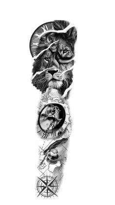 Aztec Tattoos Sleeve, Tiger Tattoo Sleeve, Half Sleeve Tattoos Drawings, Realistic Tattoo Sleeve, Lion Tattoo Sleeves, Cool Forearm Tattoos, Full Sleeve Tattoos, Tattoo Sleeve Designs, Arm Tattoos For Guys