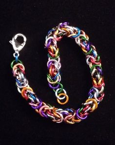 Multicolored Byzantine Bracelet