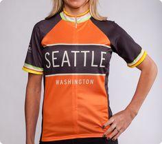 Seattle Classic Racer Cycling Jersey - Women s Orange 007f9831c