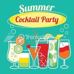 Clipart vectoriel : Summer cocktails party template