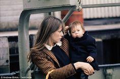 Jane Birkin & Charlotte Gainsbourg - houndstooth blazer