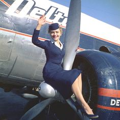 We turned heads (and rotors) in 1957 with our vintage winter uniforms. #ThrowbackThursday #TBT