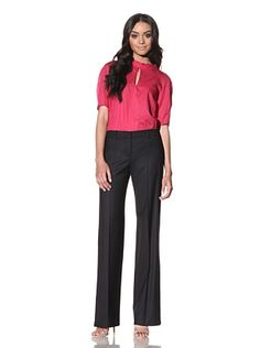 Chloé Women's Wide Leg Wool Pant (Black)