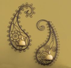 Paisley Wall Sconces from Gaiam
