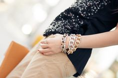 Weekend Sparkle :: Casual sequin and Candlelight dinner