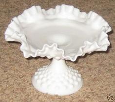 North American Glass Fenton Jamestown Cranberry Reverse Thumbprint Milk Glass Pedestal Lamp Bases
