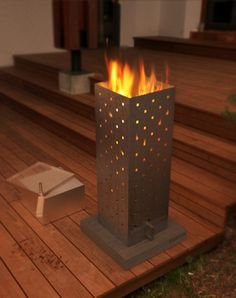 Für Terasse und Balkon: Feuerturm von Feinform