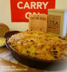 Homity Pie (potato and leek pie) #vegetarian – has cheese; could be veganized otherwise.